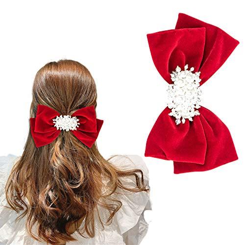 Pasador pelo para mujer, diseño de perlas hecho a mano accesorio para...