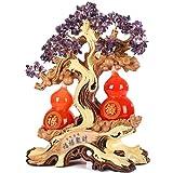 Feng Shui Money Treei Ametista Cristalli Money Tree Feng Shui Albero Con Red fortunato zucca salone della casa di Decorazione dell'artigianato di apertura regalo 16.5 pollici per l'ufficio a casa