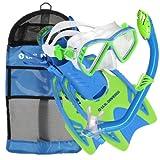 U.S. Divers Junior Regal Mask, Trigger Fins and Laguna Snorkel Combo Set, Fun Blue, Large/X-Large