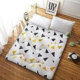 Futon Mattress, Japanese Tatami Floor Mat Sleeping Bed Foldable Futon Mattress Topper Comfort