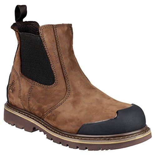 Amblers Safety Herren FS225 Sicherheitsschuhe Wasserdicht Chelsea Boots Stiefel Braun 43