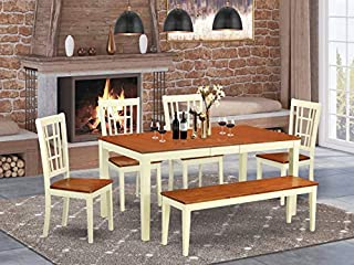 6-Pc Dining room set for 4-Table with Leaf and 4 Kitchen Chairs plus bench (B00TV4DE4A) | Amazon price tracker / tracking, Amazon price history charts, Amazon price watches, Amazon price drop alerts