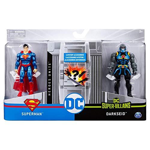 Dc - Figuras De 10 Cm Com Vilão Superman/ Darkseid - Sunny
