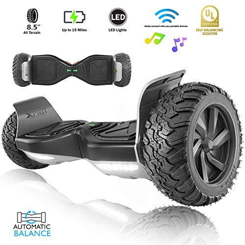 XPRIT 8.5' Wheel Hoverboard w/Wireless Speaker - All Terrain (Black)