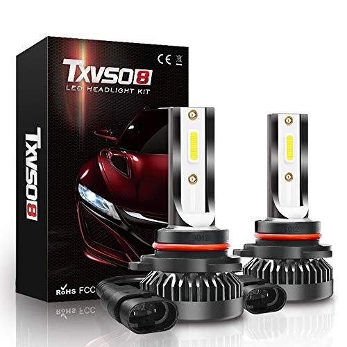 XIAORANA 9012 LED Lampadine 8000LM 80W per 12V Automobili, Kit Lampada Sostituzione per Alogena Lampade e Xenon Luci (2 Pezzi)