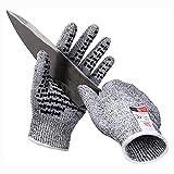 JKLL Guantes Resistentes al Corte con Microdots Secure-Grip y el Nivel 5 Protección contra...