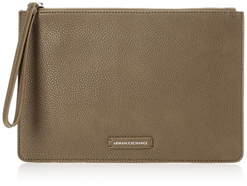 Armani Exchange vrouwen Pebble Pu Top Zip Pouch Pebble Pu Top Zip Pouch