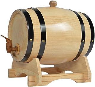 Tonneau à vin en Bois Fût de Whisky, Maison Tonneau en Chêne Baril scellé (3L / 5L / 10L), Peut être utilisé pour brasser ...