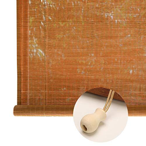 JLXJ Hogar y Cocina Exterior Persiana Enrollable de Bambú, Filtración de la Luz Sombrilla Retro Cortinas para Ventana Balcón Gazebo, 60cm/80cm/100cm/120cm/140cm/160cm de Ancho (Size : 100×120cm)