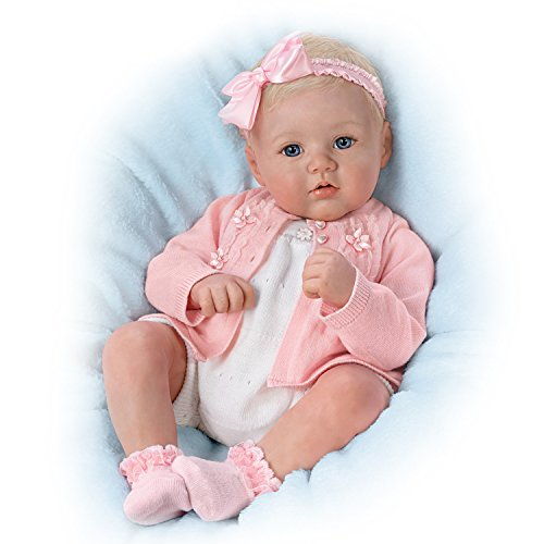 The Ashton-Drake Galleries Marissa May Poseable and Weighted Lifelike 18 Inch Baby Girl Doll