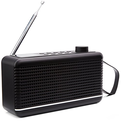 sky vision DAB+ Radio 30 S - Digitalradio DAB+, DAB Radio mit Bluetooth, DAB Plus Radio klein mit Lautsprecher, tragbares Digitalradio klein für unterwegs, schwarz