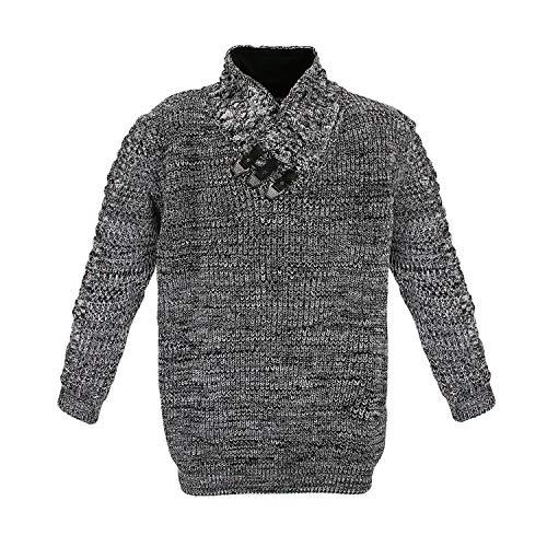 Lavecchia LV-477-zwart-wit gebreide trui