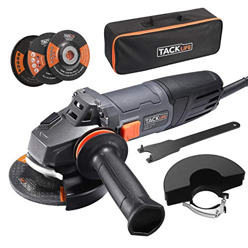 TACKLIFE 8.5Amp Angle Grinder Tool, 4-1/2-Inch Angle Grinder 12000RPM, with Anti-Vibration Handle, 5...