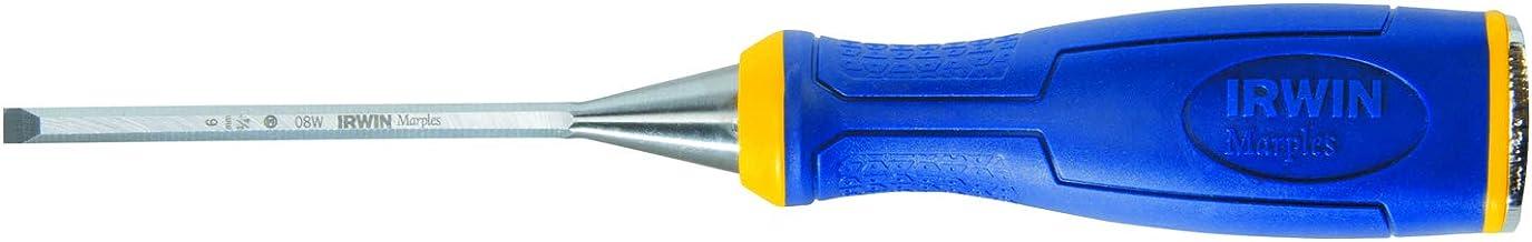 """Irwin 1768772, Formão para Madeira 1/4"""", Azul/Amarelo e Prata"""