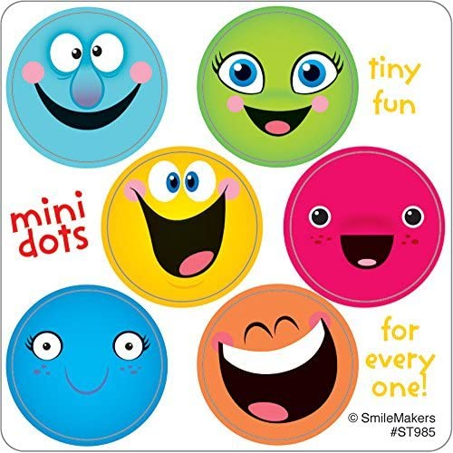 Smiley Face Mini Dots - 600 per Pack by SmileMakers