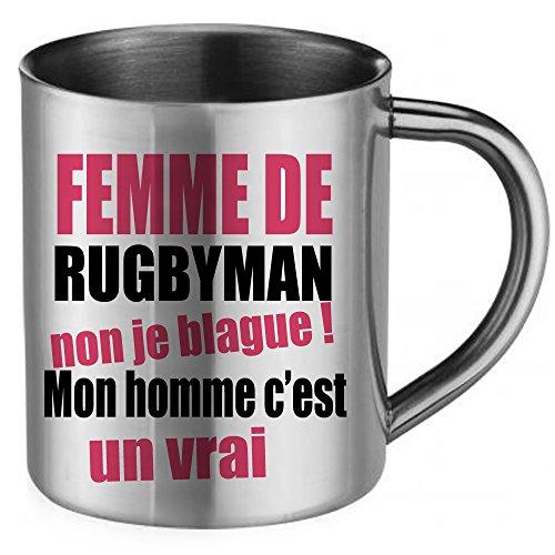 Styx Design - Taza de acero inoxidable para mujer de Rugbyman