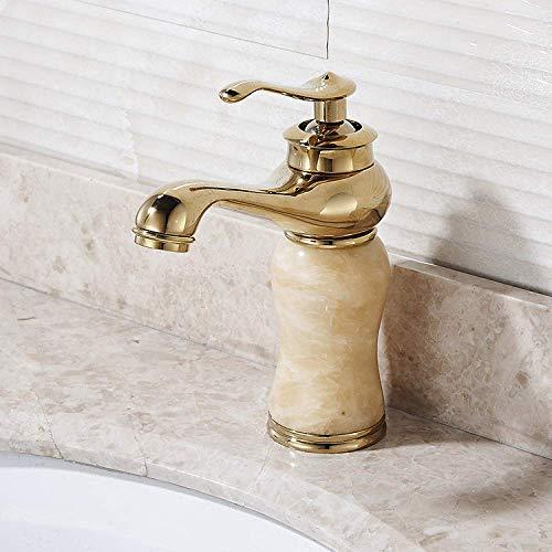 GUOCAO Cuarto de baño europeo jade hogar cobre grifo del lavabo del baño/creativo antiguo y grifo de agua fría cocina