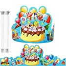 Birthday Crowns Party Hats for Kids Classroom School VBS Party Supplies By JTIEO Pack of 35