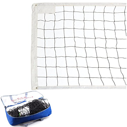 Daily-buy Sand Volleyball Net with Steel Cable Rope Outdoor Indoor 32 FT/3 FT Professional Sport Sun Beach