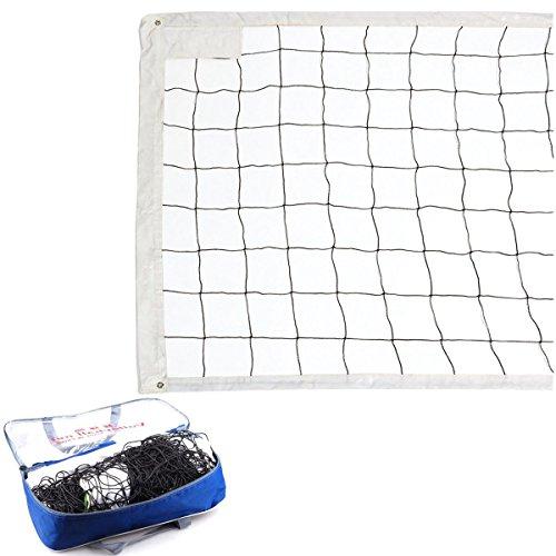 FORMAX Sand Sonne Strand Volleyball Netz mit Stahlseil Outdoor Indoor 9,5 Meter lang 1 Meter Breite Profi Sport