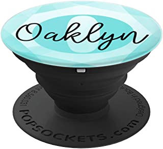 Oaklyn Name Aqua Teal Diamond Collapsible Phone Grip - PopSockets Grip and Stand for Phones and Tablets