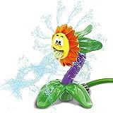 Bixmox Sprinkler Blume für Kinder Sprinkler Spielzeug Sommer Garten Rasen Outdoor Wasserspray...