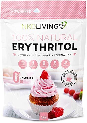 Erythritol in poedervorm van NKD Living – Caloriearme poedersuiker 1kg (2,2 lb)