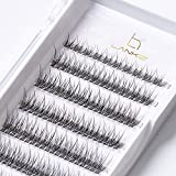 LANKIZ Individual Lashes Natural Cluster Lashes 12 Roots C Curl 0.07mm Thickness 8-14mm Mix Faux Mink DIY Individual Eyelashes 160pcs
