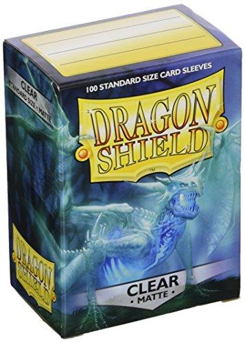 Dragon Shield 11001 Protectores de naipes, Tamaño estándar, Mate transparente, 100 protectores