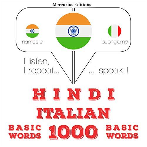 Hindi - Italian. 1000 basic words cover art