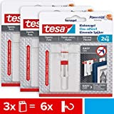 tesa Verstellbarer Klebenagel für Tapeten und Putz 2 kg im 3er Pack - Höhenverstellbarer,...