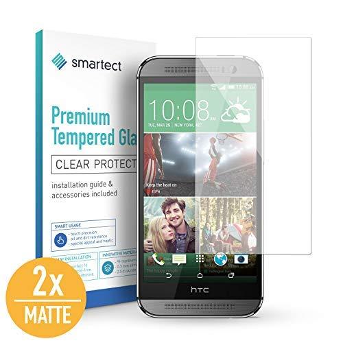 smartect Mattes Panzerglas kompatibel mit HTC One M8 / M8s [2x MATT] - Tempered Glass mit 9H Festigkeit - Blasenfreie Schutzfolie - Anti Fingerprint Panzerglasfolie