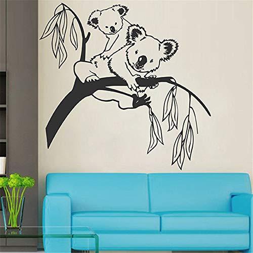 Preisvergleich Produktbild Yptie 3D Pvc Diy Wandaufkleber Tapete Wandbild Wallpaper Wohnzimmer Schlafzimmer Entfernbare Kunst Hintergrund Dekor Bär Dich Auf Den Baum