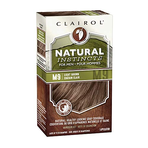 Price comparison product image Clairol Natural Instincts Semi-Permanent Hair Dye Kit for Men,  Light Brown,  3 Count