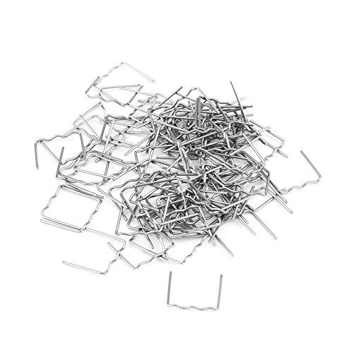 100 Stück 0,8 mm Auto Hot Staples Stoßstangenreparatur Vorgeschnittene Kunststoffreparaturmaschine Schweißen Heißhefter-Werkzeugsatz Wellen-/Eck-/Flachheftklammern zur Auswahl(S.)