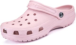 Sunny&Baby Women and Men's Mules Hollow Vamp Waterproof Sandals up to Size 46 Durable (Color : Pink, Size : 6.5 UK)
