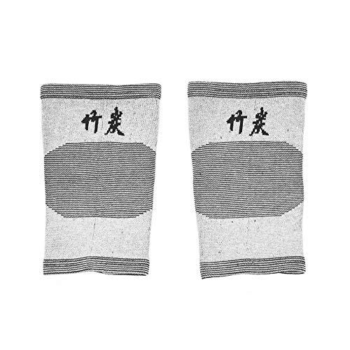 QiKun-Home Rodilleras de Alta Elasticidad y cómodas Rodilleras de Apoyo cálido para piernas, Lesiones por Artritis, Mangas de Gimnasio, Rodilleras, Rodilleras Tejidas de carbón de bambú, Gris L