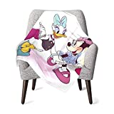 Minnie Mouse Daisy Duck Shopping Unisex Baby Receiving Blankets Boy and Girls Plush Soft Warm Blankets for Cribs, Strollers,Trave ,Newborns 40 X 30 Inches Multi-Use Microfiber