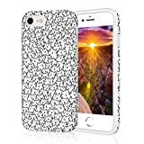 ZQ-Link Protective Cute Phone Case for iPhone 8, Raised Edges Scratch Resistant Light Weight Thin Flexible Soft TPU Glossy Bright Rubber Silicone Phone Cover for iPhone 7 & iPhone 8 - A Lot of Cats