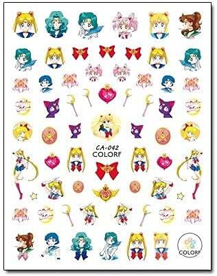 STORE247-3D Nail Colorful Sailor Moon Art Now free shipping S Doraemon Max 58% OFF Carton