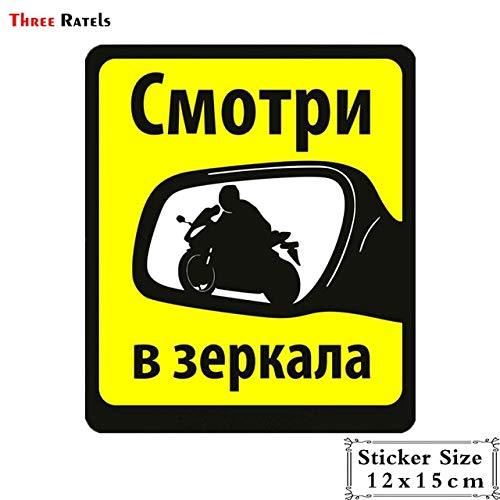 BDDLLM Autoaufkleber trl001# 12.7x15cm lustige Autoaufkleber suchen in Spiegeln nach Bikerautoaufklebern lustiges Auto-Styling 1 Stück TRL001