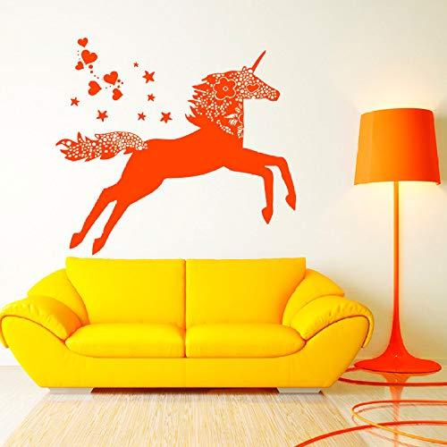Etiqueta engomada pared caballo unicornio Etiqueta
