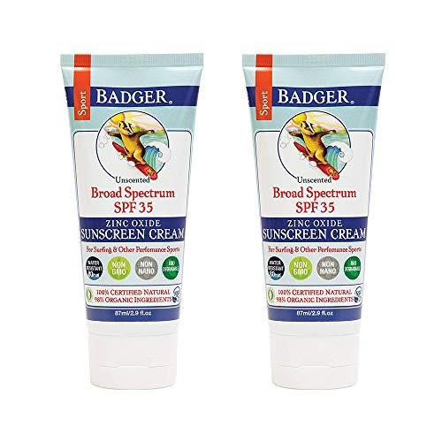Badger Sport Sunscreen Cream SPF 35-2.9 oz - 2 Pack
