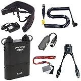 Fomito Godox PB960 Kit de batterie d'alimentation flash prolongé pour Canon 600EX, 580EX II, 550EX, 430EZ, pour Yongnuo Flashs, pour AD600 AD360II AD360 AD180, pour téléphone portable