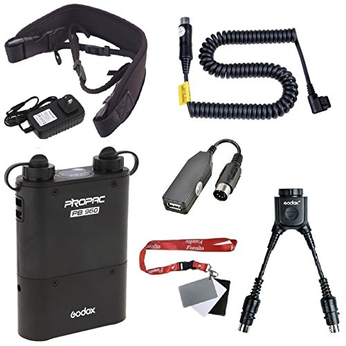 Fomito Godox PB960 portatile estesa uscita Flash Power Battery Pack Corredo doppio per Canon 600EX 580EX II 580EX 550EX 540EZ 430EZ, per Yongnuo Flash, per AD600 AD360 AD180, per il telefono mobile di Orange