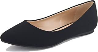 Women's Casual Pointed Toe Ballet Comfort Soft Slip On Flats Shoes