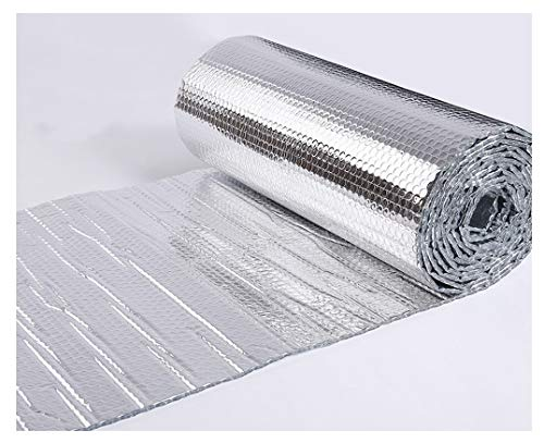 Waterproof Foil Insulation Roll Radiator Insulation Foil Double Layer Aluminum Foil Insulation Self-adhesive For Attics, Lofts, Floors, Sheds, Caravans, Boats, Greenhouses, Pet Homes And Garages