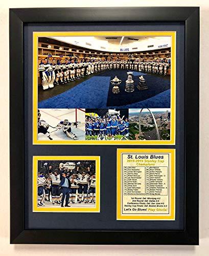 NHL St. Louis Blues Stanley Cup Champions Gerahmtes Foto, doppelt mattiert, Collage, 30,5 x 38,1 cm