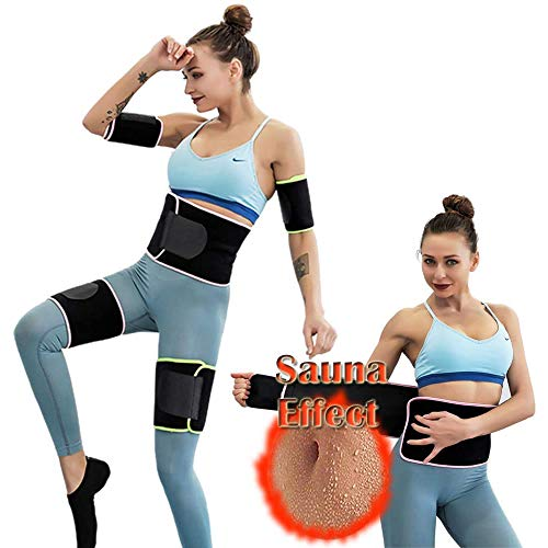 Waist Trimmer Belt, Legs Arms Trainer Hourglass Slimmer Kit Weight Loss Wrap Stomach Fat Burner Sauna Suit Effect Best Trainer Hot Neoprene Sweat Belly Band Slimming Body Shaper Sport Girdle Belt
