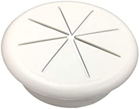 HYCC 2-3/8 Flexible Desk Grommet - Color White - 5 Pack